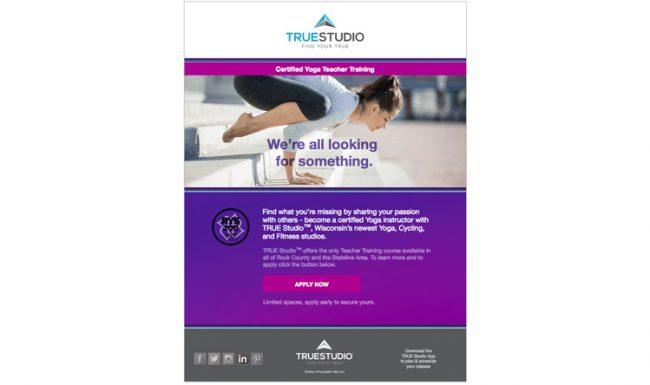 TRUE Studio - Email Marketing - Design 4