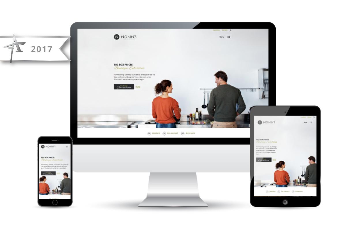 Nonn's Website Design & Development - 2017 American Advertising Award Winner