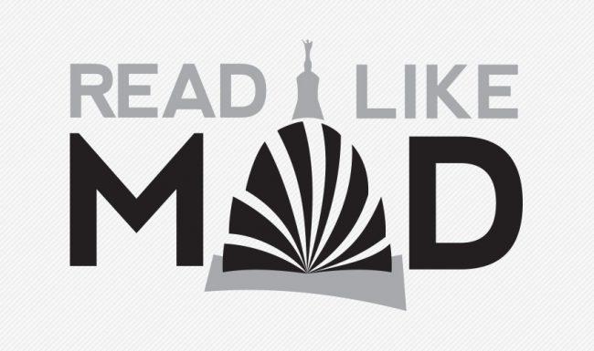 Read Like Mad, Madison WI, Grayscale Logo