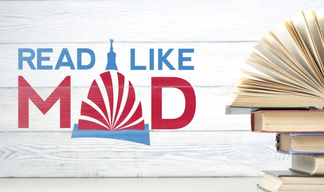 Read Like Mad, Madison WI, Logo Application