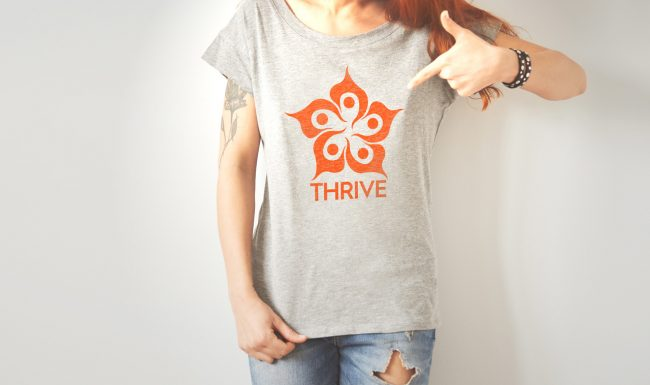 THRIVE Logo for T-Shirt Marketing Campaign