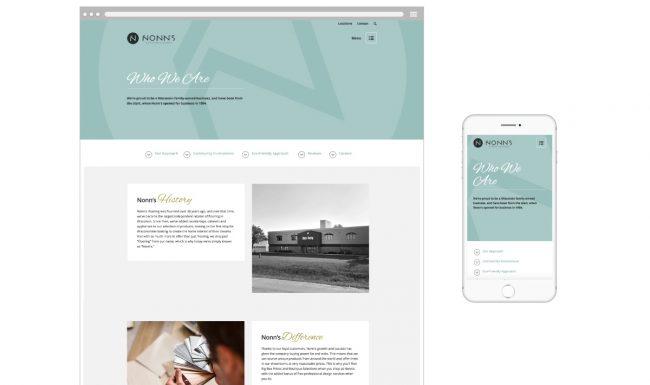 Nonn's About Page - Website Design