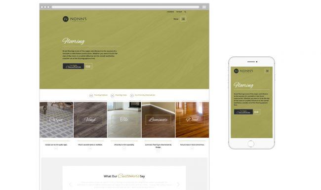 Nonn's Flooring Page - Website Design