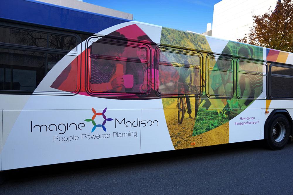 Imagine Madison - Bus Wrap Design 2