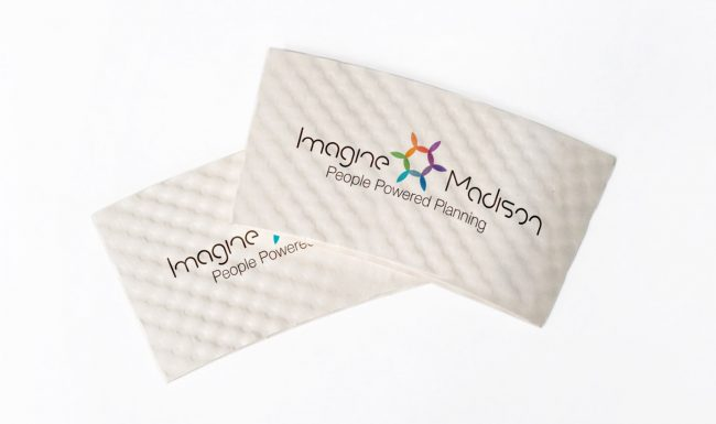 Imagine Madison Coffee Sleeves Graphic Design