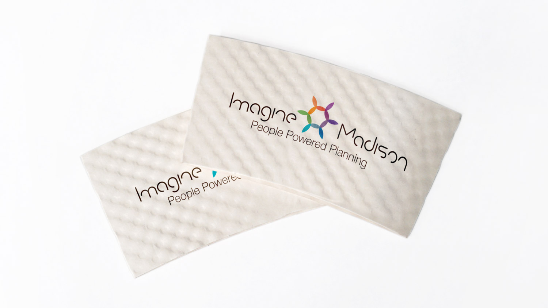 Imagine Madison Coffee Sleeves Graphic Design