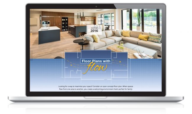 Website Design Nonn's Insiders List - Floor Plans with Flow