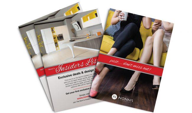 Nonn's Insiders List Promotional Print Advertising