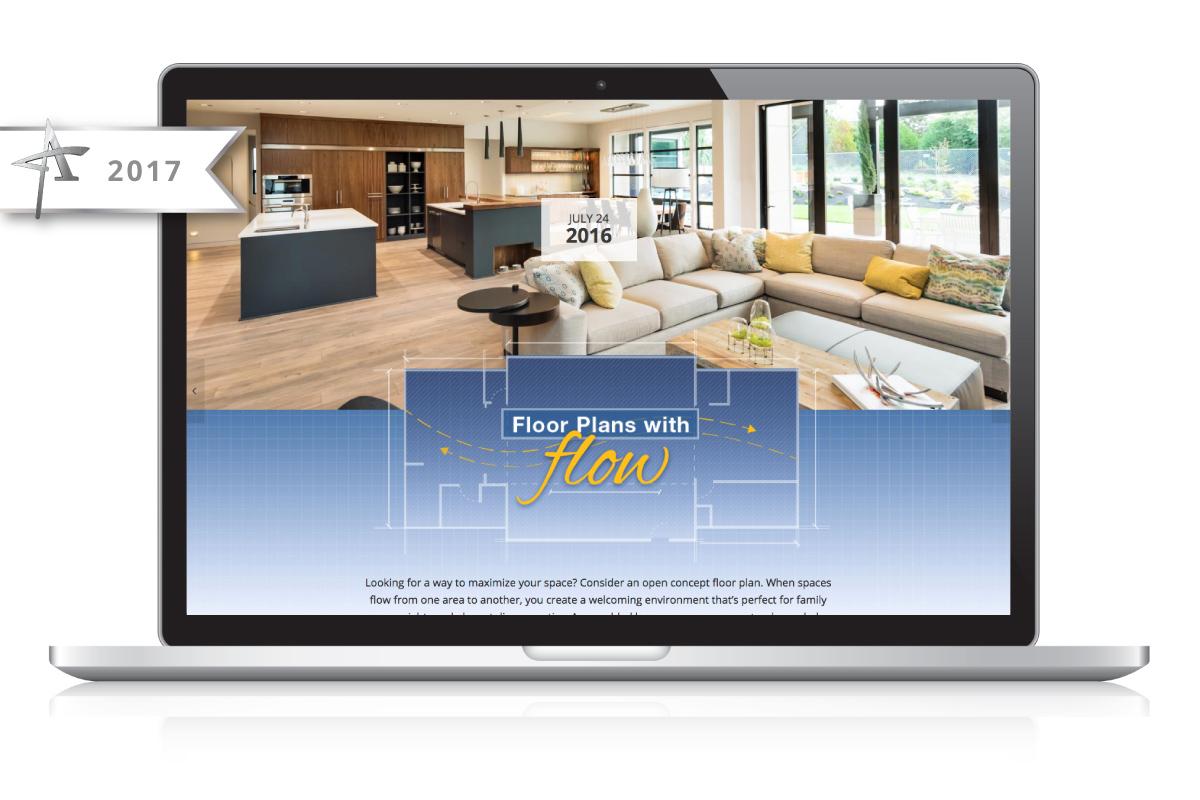 Website Design Nonn's Insiders List - Floorplans with Flow - 2017 American Advertising Award Winner