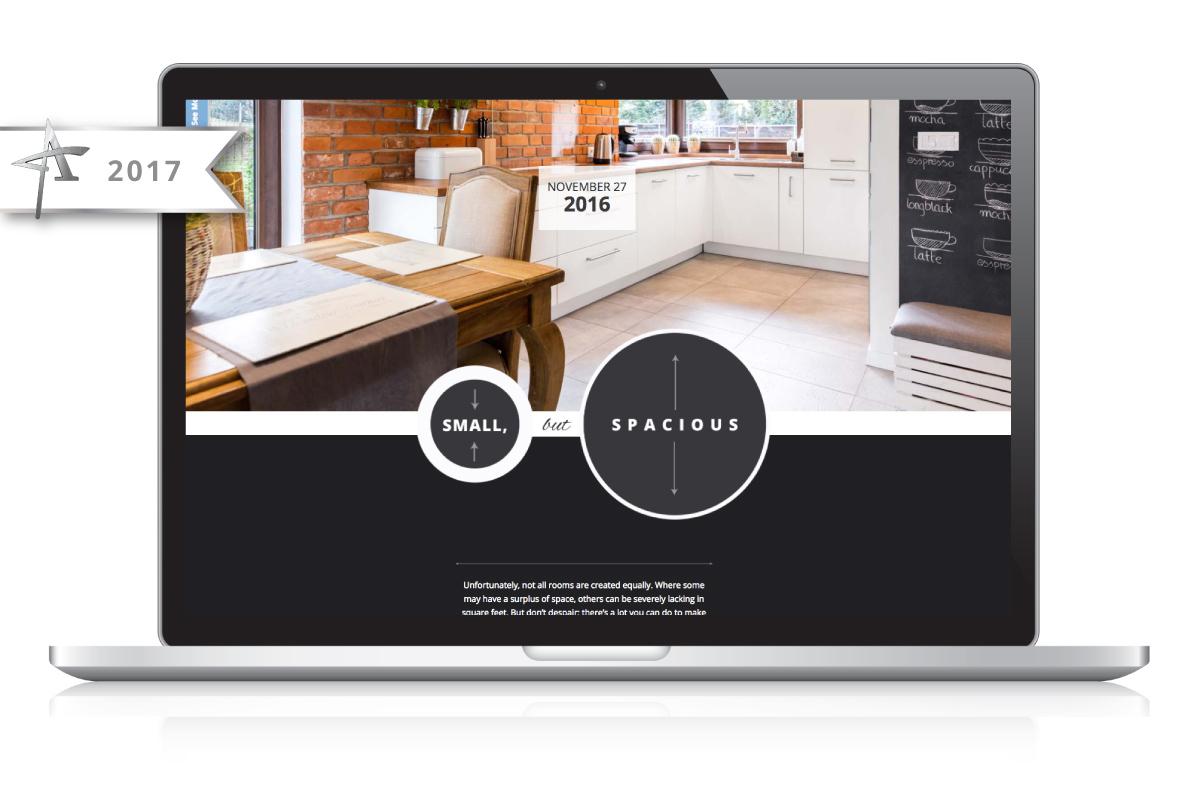Web Design Nonn's Insiders List - Floorplans with Flow - 2017 American Advertising Award Winner