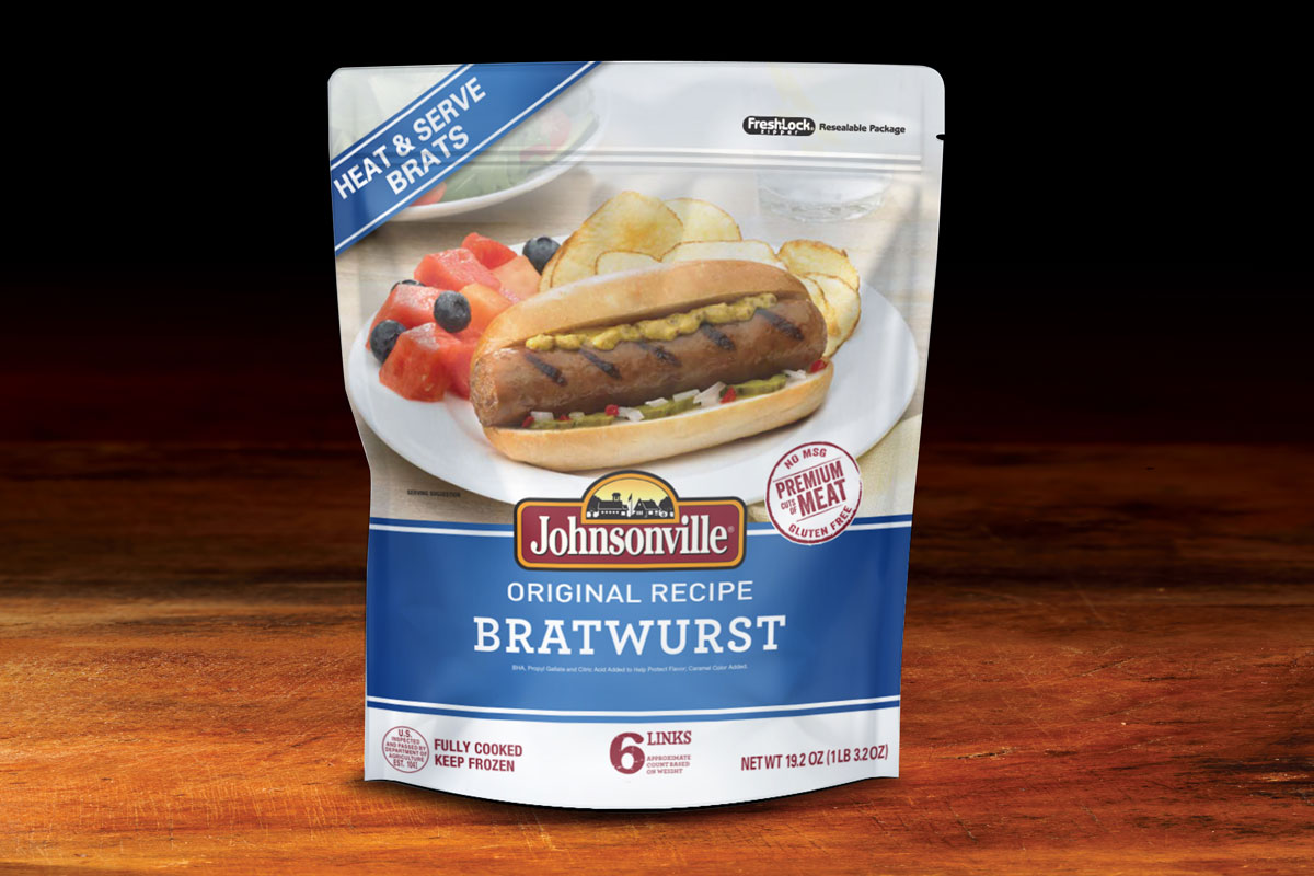 Johnsonville Bratwurst Packaging Design