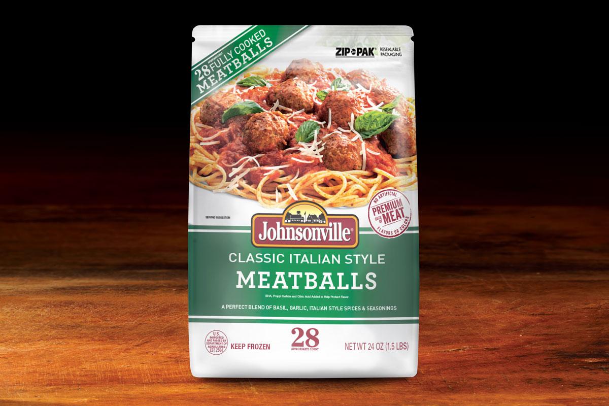 Johnsonville Classic Meatballs Packaging