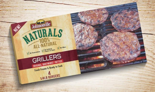 Packaging Design Johnsonville Grillers Patties