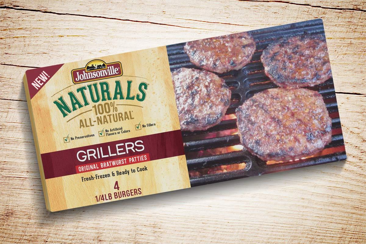 Packaging Design Johnsonville Grillers Patties