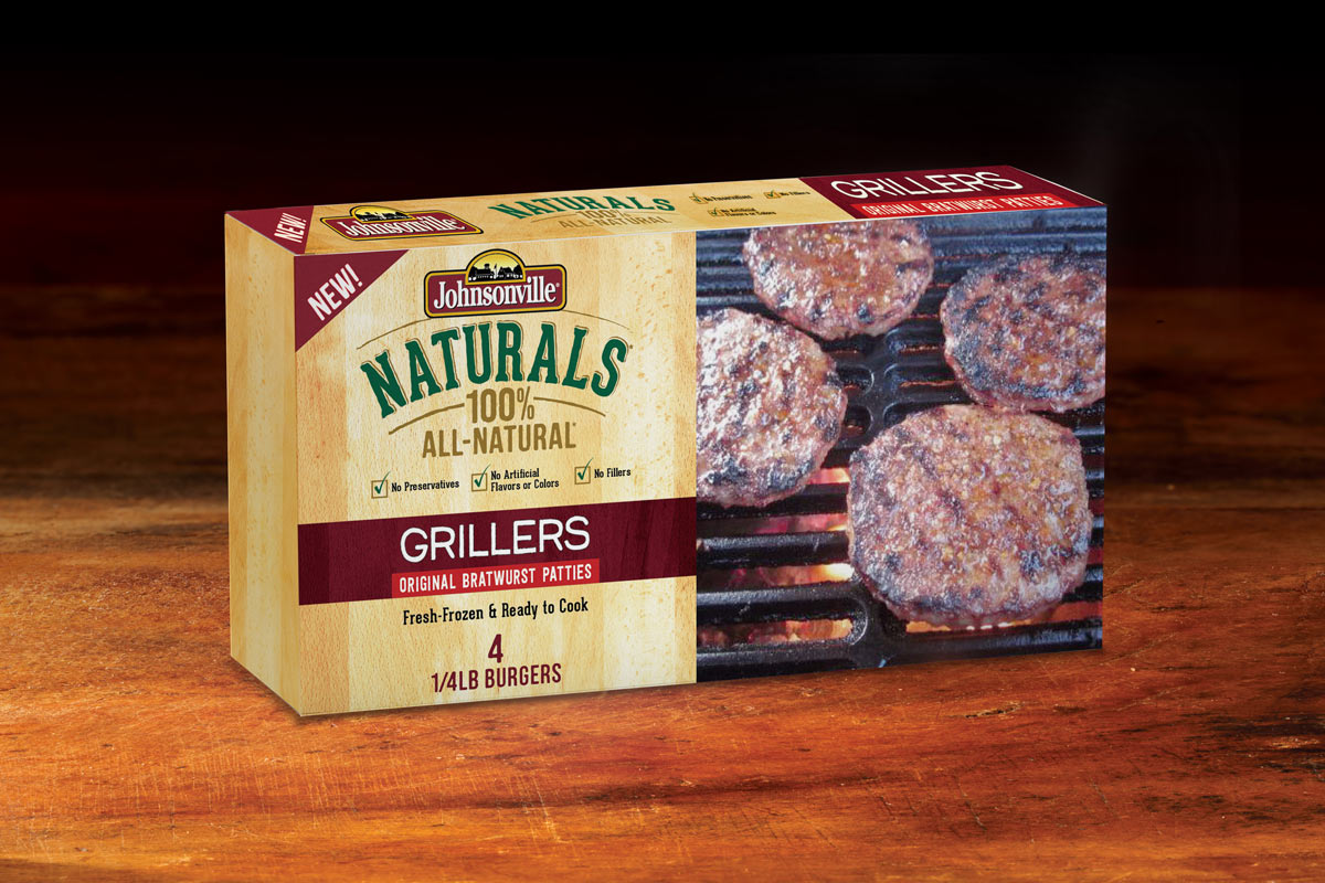 Johnsonville Grillers Patties Packaging Design