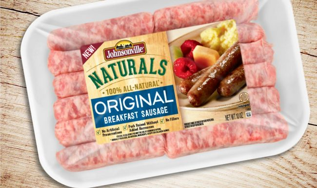 Johnsonville Naturals Breakfast Sausage Packaging Design