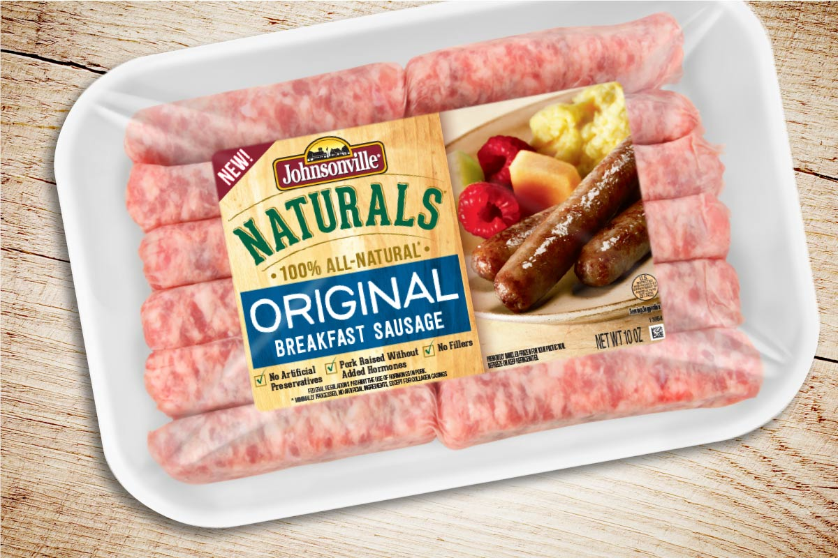 Johnsonville Naturals Breakfast Sausage Packaging Design