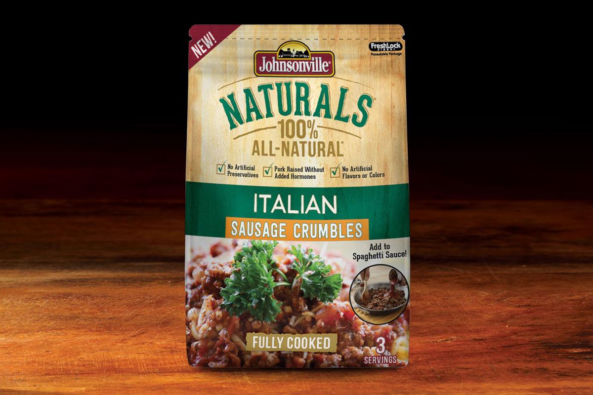Johnsonville Naturals Sausage Packaging Design