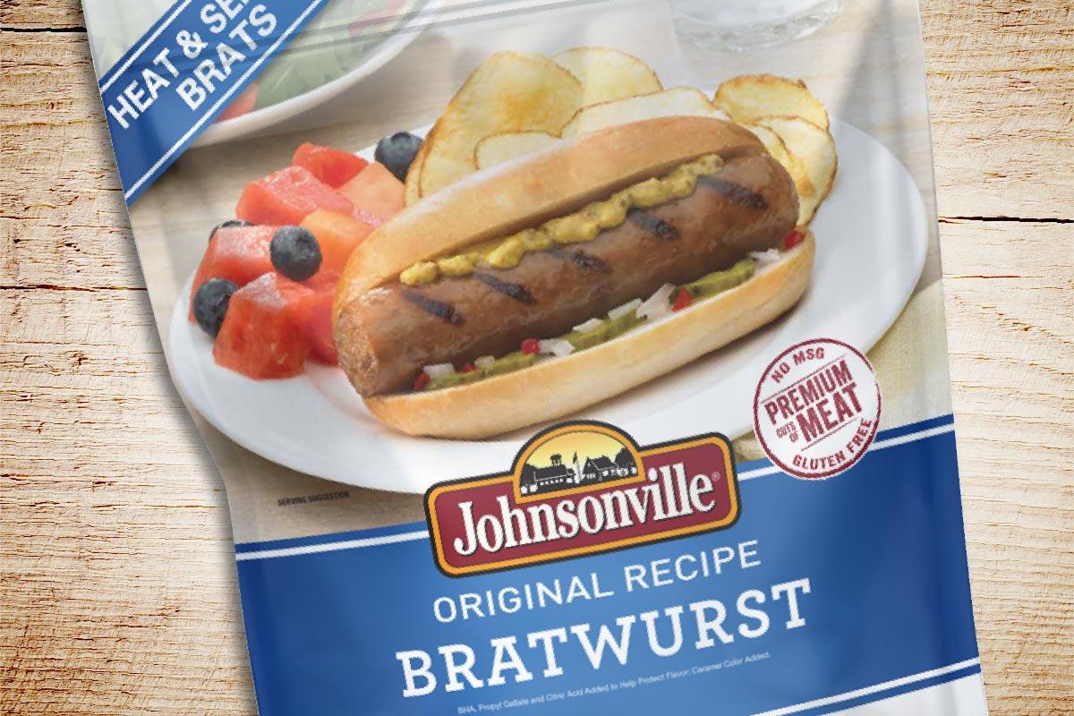 Johnsonville Packaging Design - Original Recipe Bratwurst