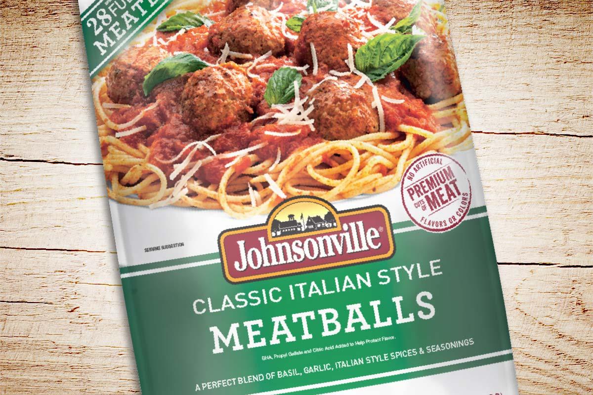Packaging Design Johnsonville Meatballs