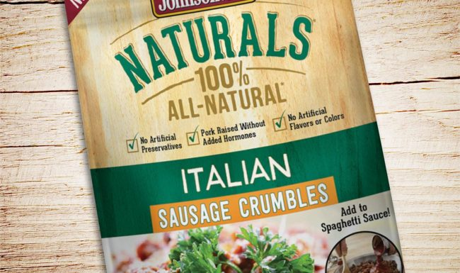 Johnsonville Sausage Crumbles Packaging Design