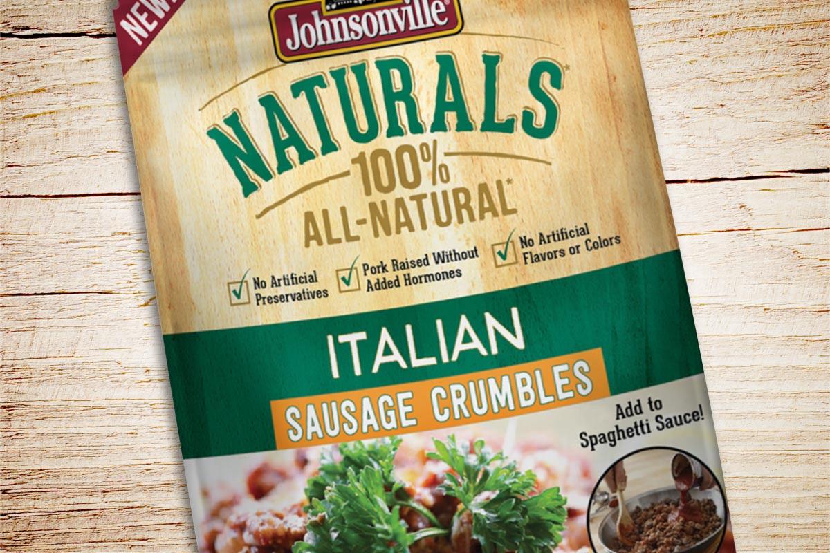 Johnsonville Sausage Crumbles Packaging Design