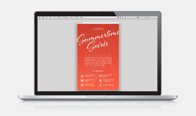 Email Marketing Design - Summertime Soirée