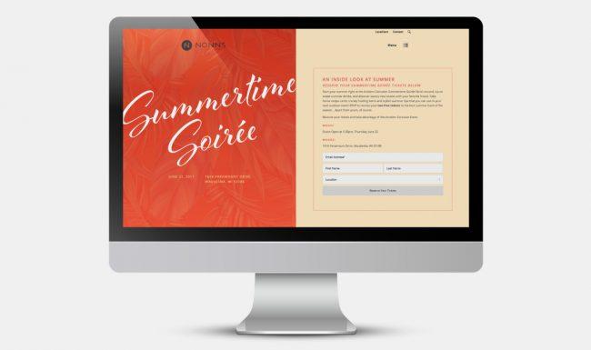 Nonn's Summertime Soirée Web Design