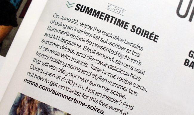 Event Marketing Summertime Soirée Copy - Nonn's