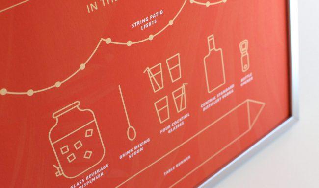 Graphic Design Detail Summertime Soirée Giveaway Sign