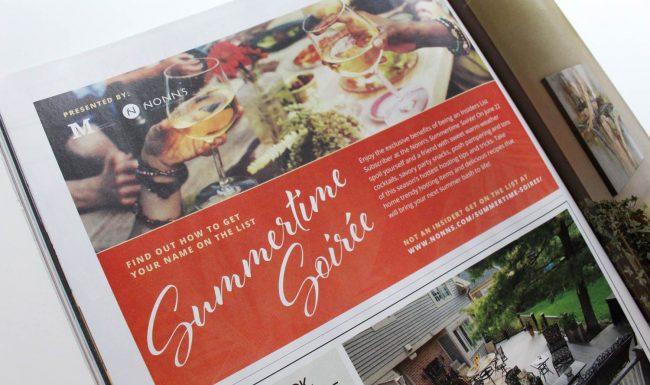 Print Advertisement Summertime Soirée Event - Nonn's
