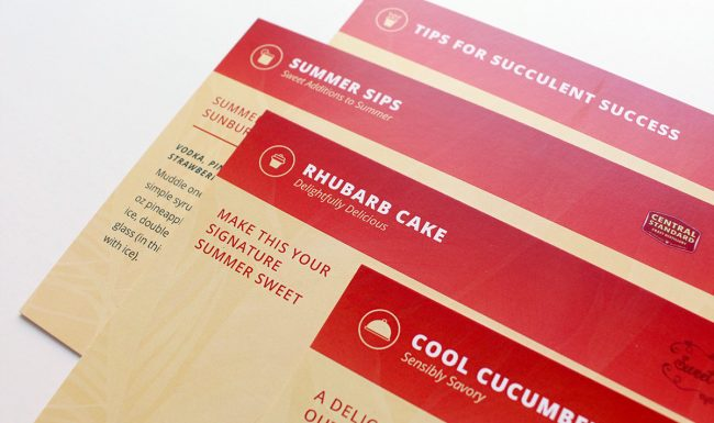 Graphic Design - Summertime Soirée Recipe Cards