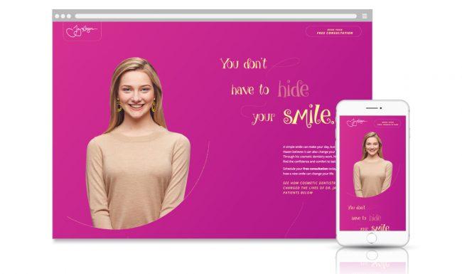 Microsite Web Design - Dentistry for Madison - Slide 1
