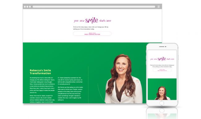 Microsite Web Design - Dentistry for Madison - Slide 2