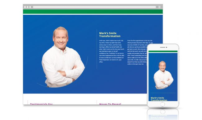 Microsite Web Design - Dentistry for Madison - Slide 3