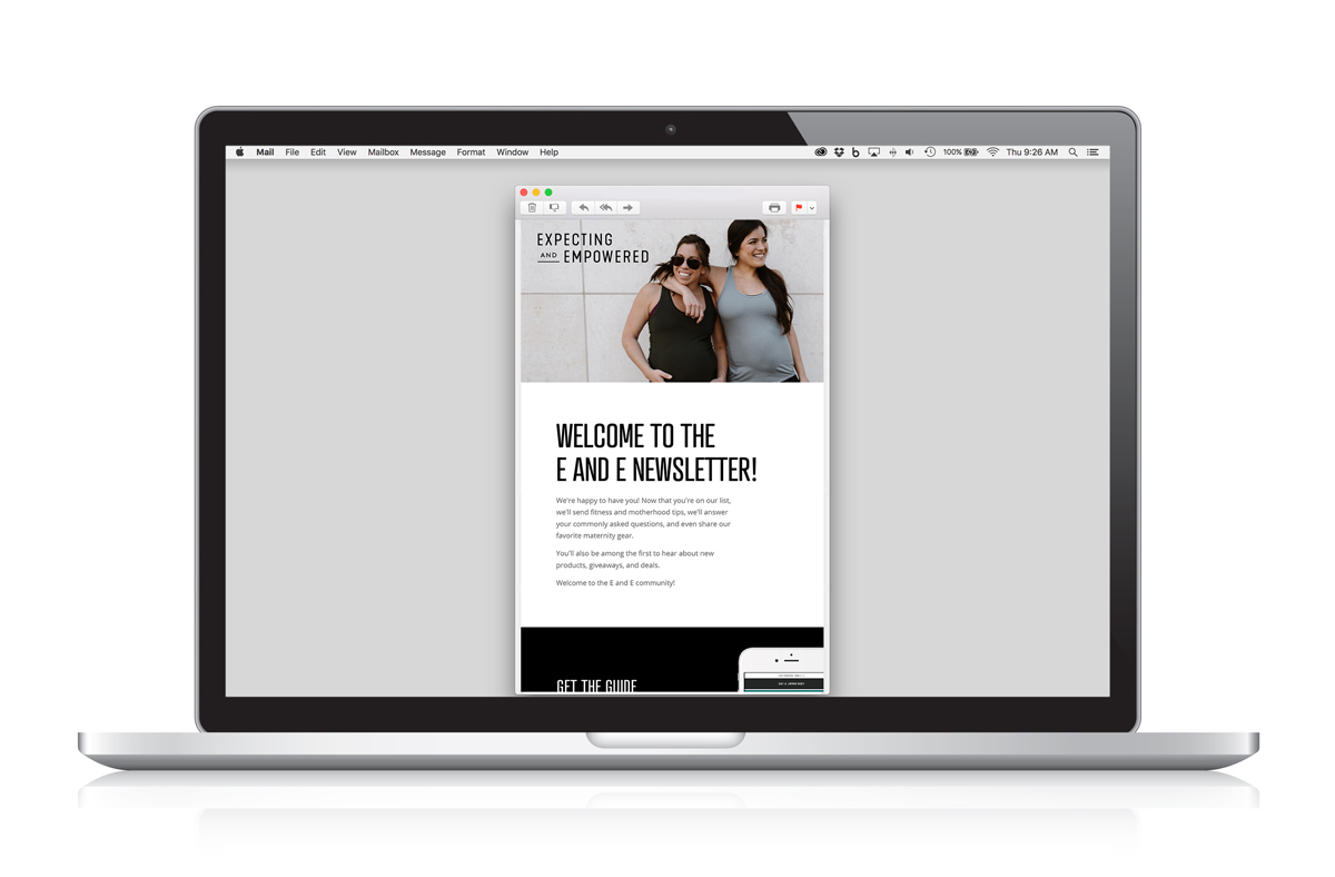 Expecting and Empowered Email Marketing - Welcome Email