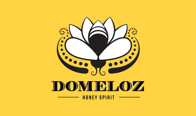 Domeloz - Black Logo design by Pop-Dot