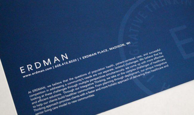Erdman Brochure Graphic Design - Back Cover