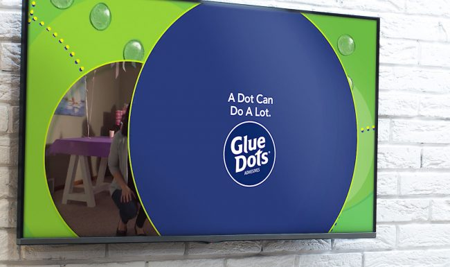 Glue Dots Television Advertising by Pop-Dot