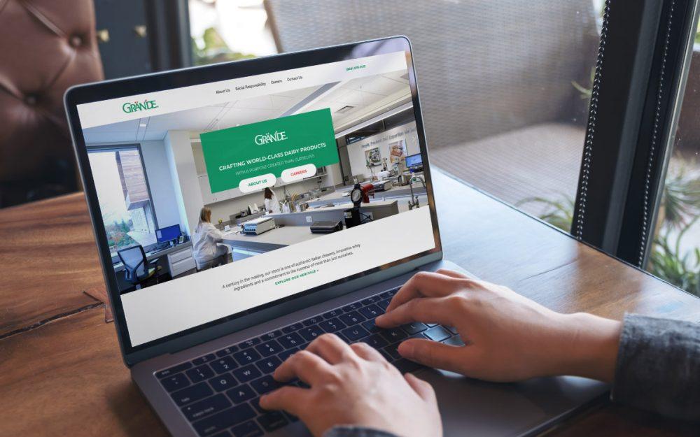 Grande Cheese Company Website Design