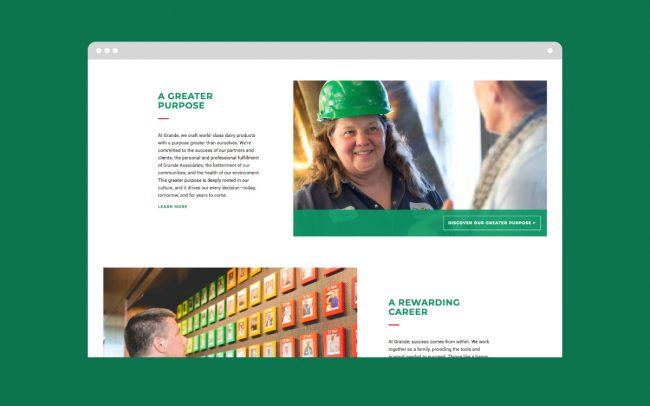 Grande Homepage Website Design