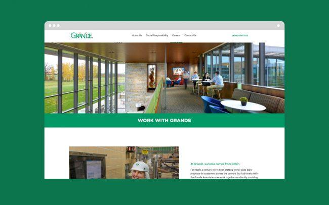 Grande - Pop-Dot website Design