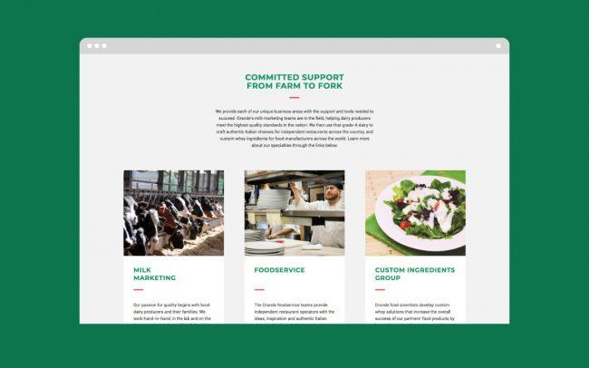 Grande Website Homepage Development
