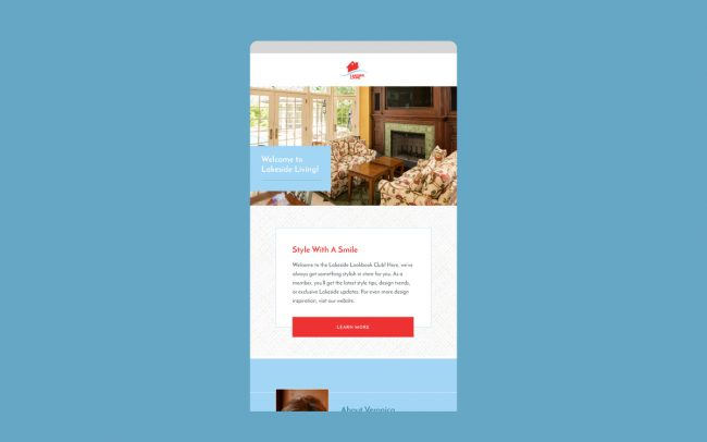 Lakeside Living Email Design 1