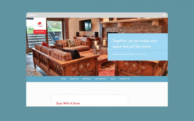 Lakeside Living Homepage Design