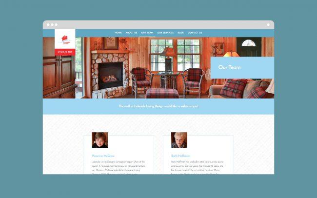 Lakeside Our Team Website Development