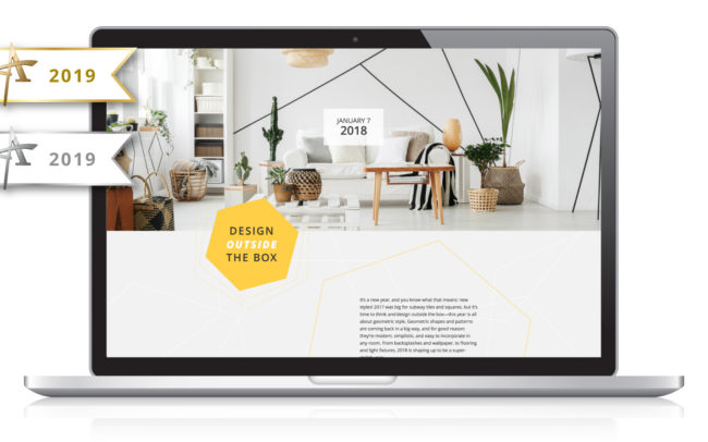Insiders List - Design Outside the Box - 2019 Award Winner