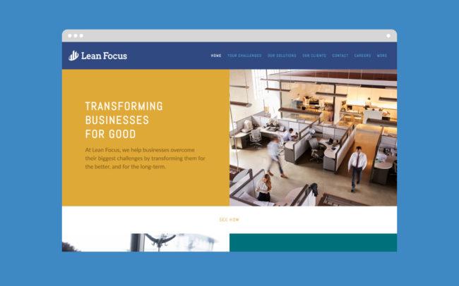 Lean Focus Web Design - 1