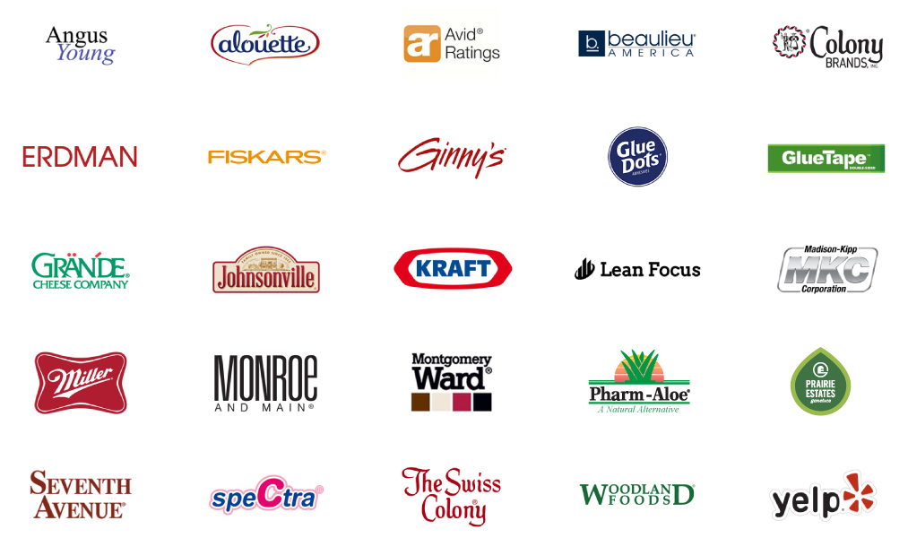 National & International Brands We've Worked With