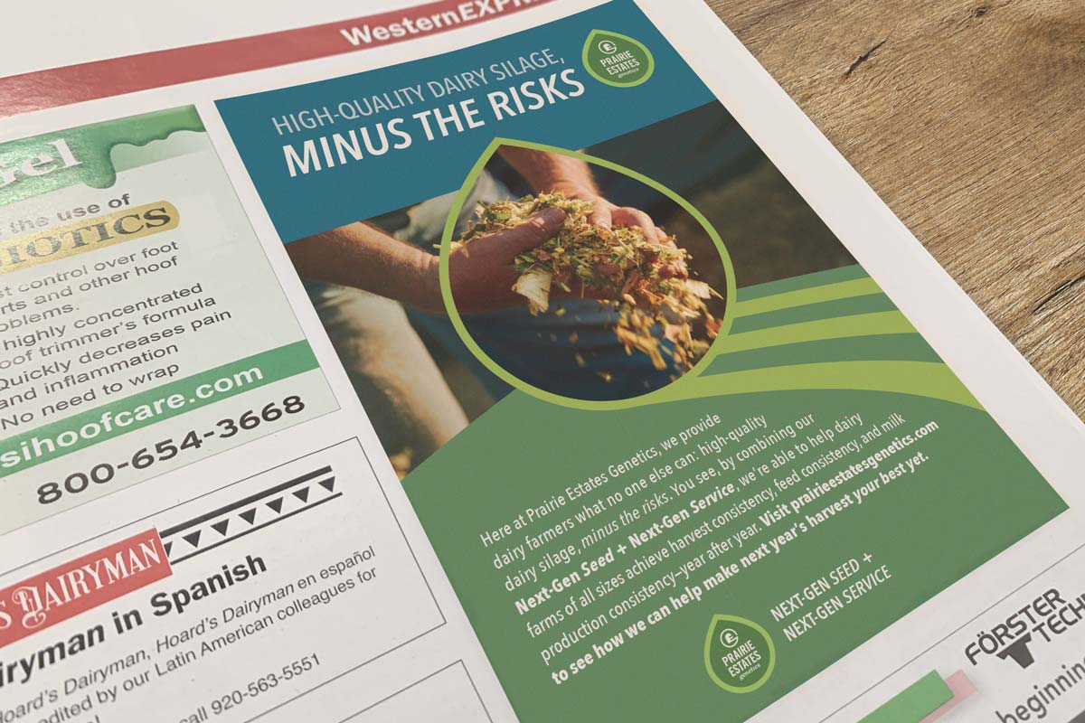 Prairie Estates Genetics Print Advertisement 1